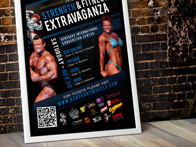 KY Muscle Event Poster